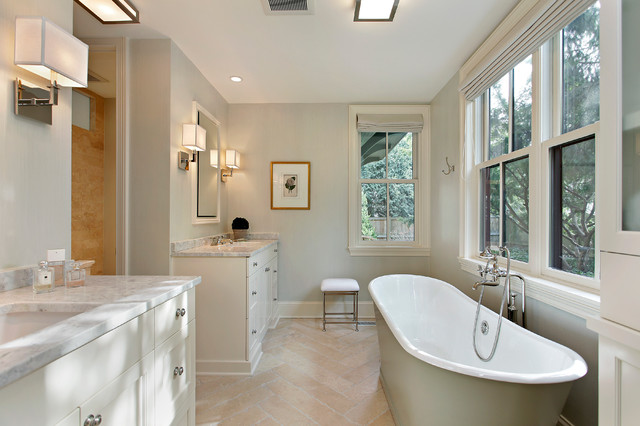Lake bluff custom residence traditional bathroom for Bathroom design chicago