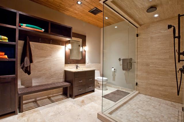 Lake Cabin Contemporary Bathroom Calgary By Larsen