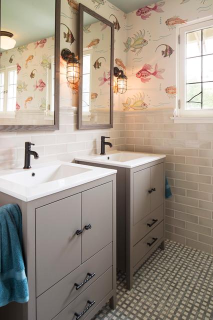 Lake harriet tudor traditional bathroom minneapolis for Tudor bathroom design