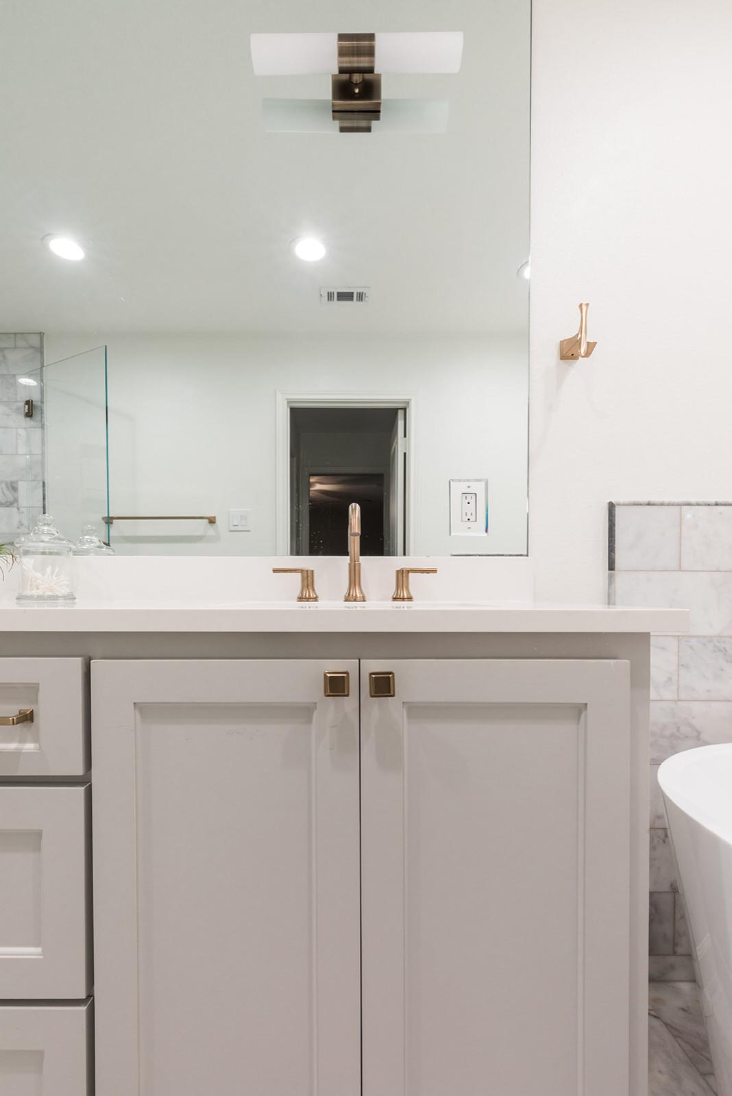 Lake Highlands Marble Bathroom