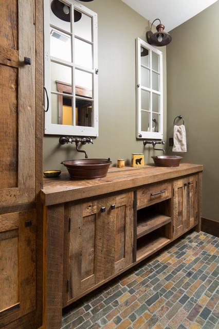 Lake Home Bathroom Farmhouse Bathroom Minneapolis By Steven Cabinets
