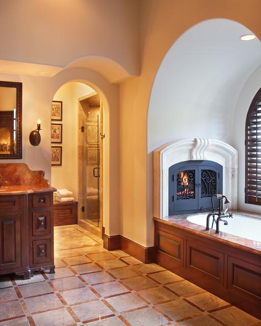 Lake Home Master Bath mediterranean-bathroom