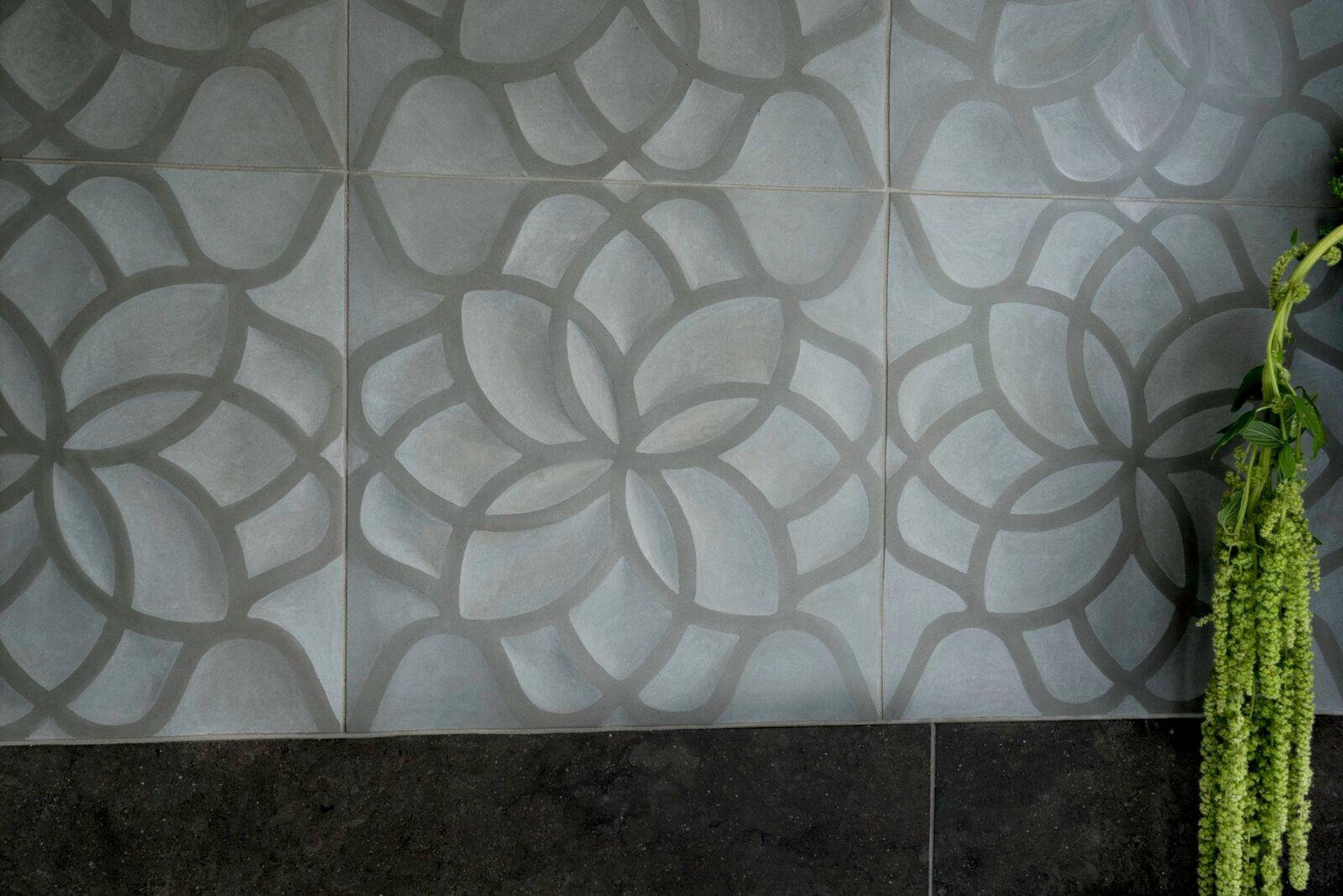 Lake House Master Bath Tile