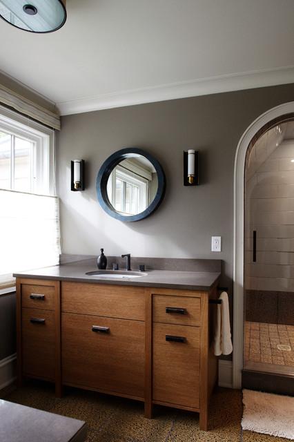 Lake House Retreat contemporary-bathroom