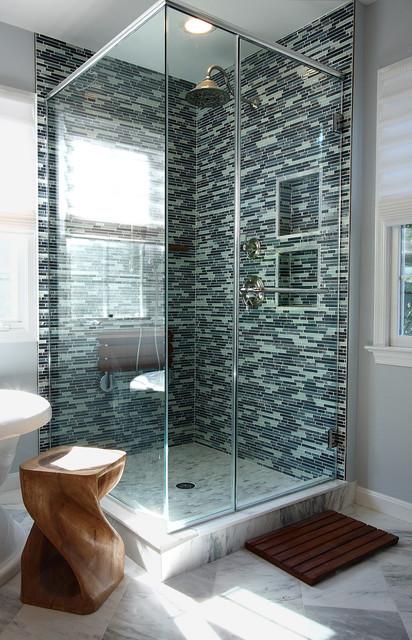 Lake Jackson Master Bath contemporary-bathroom
