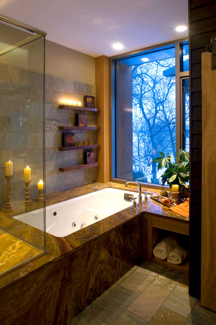 Inspiration for a modern bathroom remodel in Other