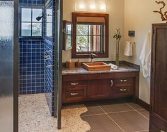 Lake Michigan Home eclectic bathroom