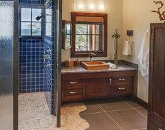 Lake Michigan Home rustic-bathroom