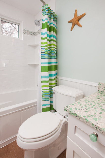 Lake Minnetonka Children's Bathroom Remodel Coastal Bathroom Custom Castle Building And Remodeling