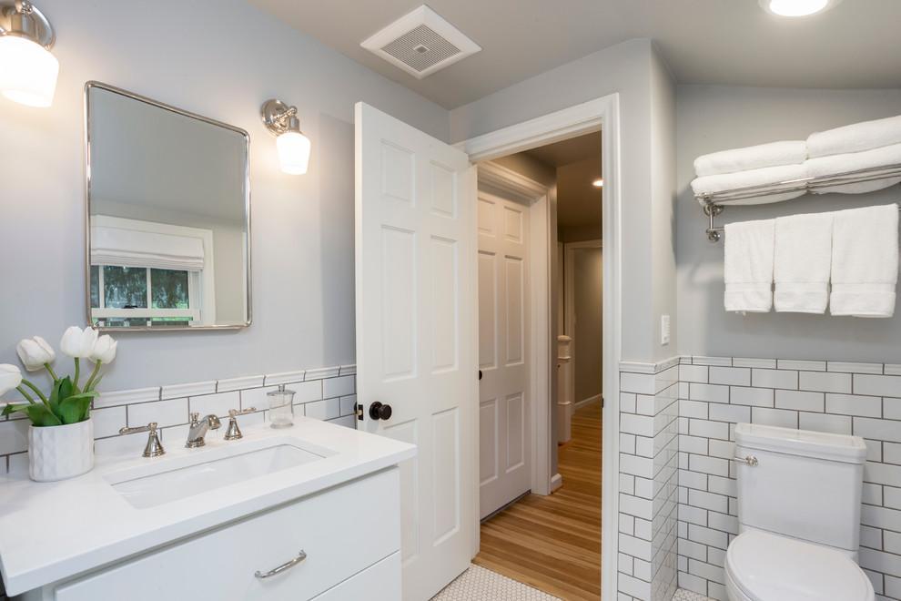 Lake Oswego Cape Cod Expansion Transitional Bathroom