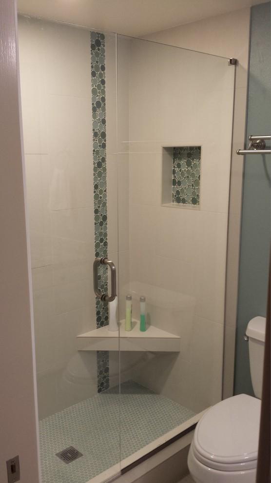 Lake Oswego, Oregon Hall Bathroom - Contemporary ...