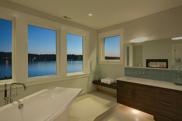 Lake Sammamish Custom Home contemporary-bathroom