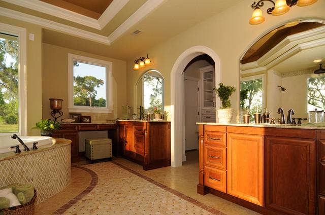 Lake Sheen Home traditional-bathroom