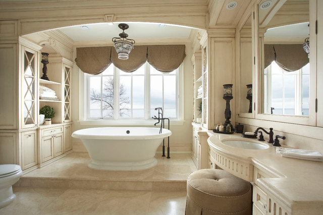 53 Most Fabulous Traditional Style Bathroom Designs Ever: Lake Side Luxury