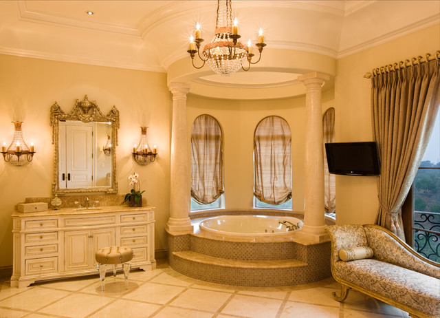 Lake Travis Estate mediterranean-bathroom
