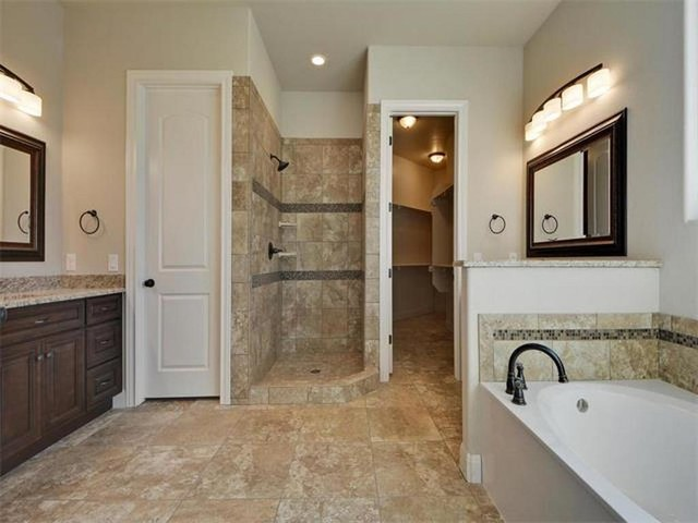 Lake travis mediterranean with hints of texas hill country for Bathroom design austin tx