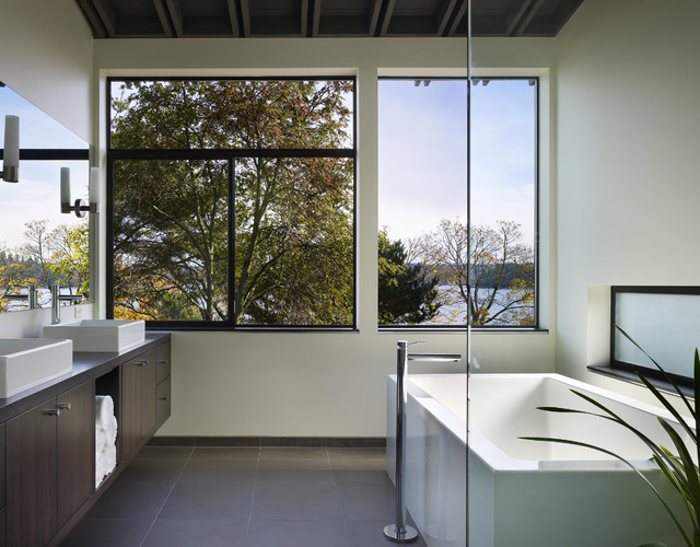 Lake Washington residence modern bathroom