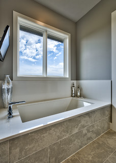 Lakeside Luxe Modern Bathroom Omaha By Inspired Interiors