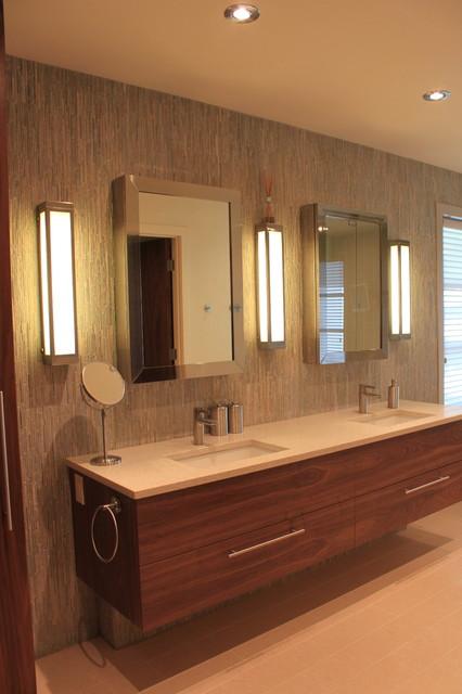 Lakeview Village Modern modern-bathroom
