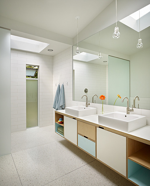 mid century midcentury bathroom seattle by deforest architects