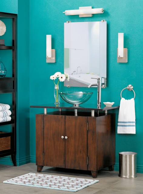 LAMPS PLUS contemporary bathroom