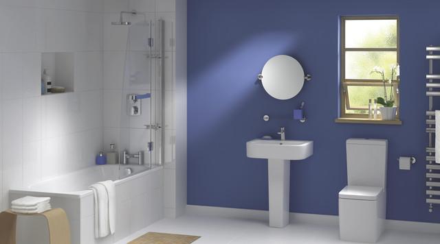 Amazing Deep Tub Small Bathroom Tiny Bathroom Modern Ideas Photos Rectangular Replace Bathroom Fan Light Bulb Bath And Shower Enclosures Old Kitchen And Bathroom Edmonton YellowLowes Bathroom Vanity Tops Lana Bathroom Suite   Contemporary   Bathroom   Hampshire   By B\u0026amp;Q