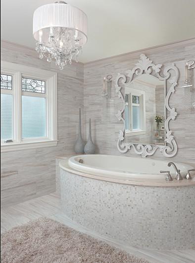 Land Scape in snow contemporary-bathroom