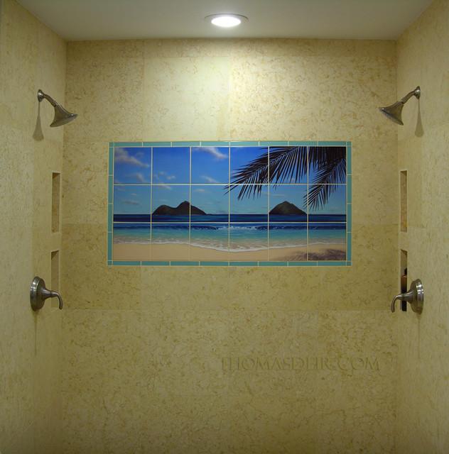 Lanikai Twin Islands Twin Shower 2.jpg tropical-bathroom