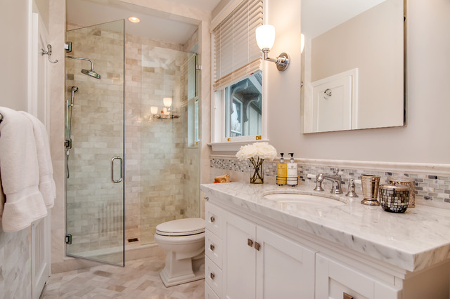 Larchmont Waterfront Baths Gut Restoration Kitchen Formal And - Bathroom gut and remodel