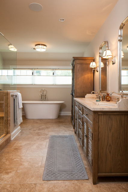Large Addition and Complete Renovation in North Wilmington, Delaware traditional-bathroom