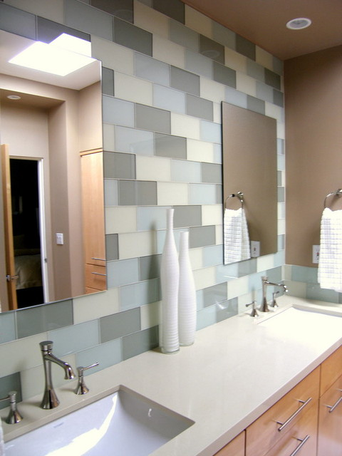 Large glass subway tile for Large glass tiles