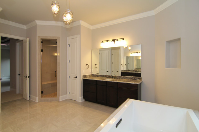 Large his and hers master bath traditional bathroom for Master bathroom his and hers