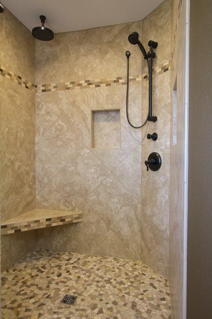 large master bathroom with walk in shower modern bathroom portland by all phase. Black Bedroom Furniture Sets. Home Design Ideas