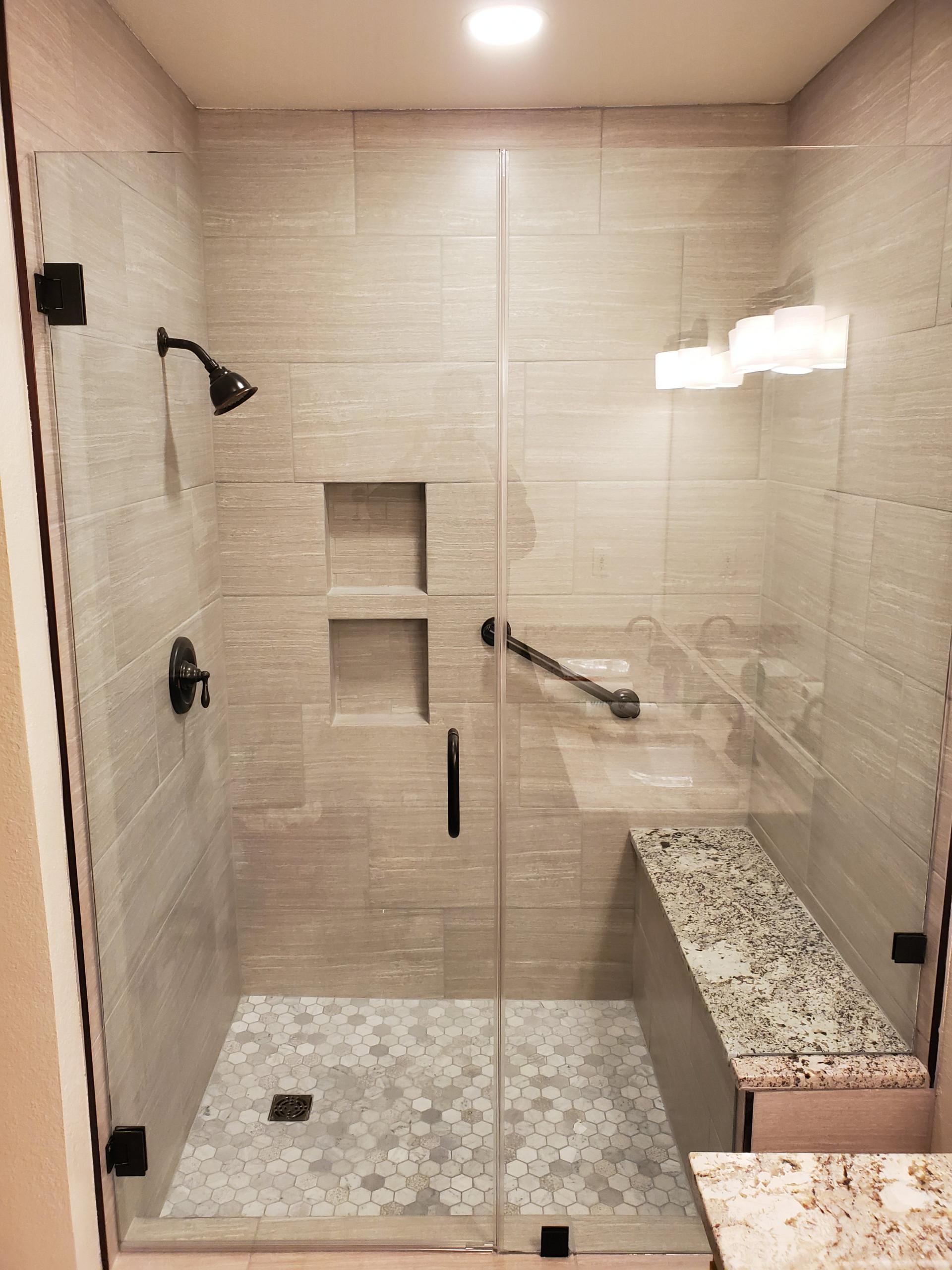 Large Master Shower Renovation