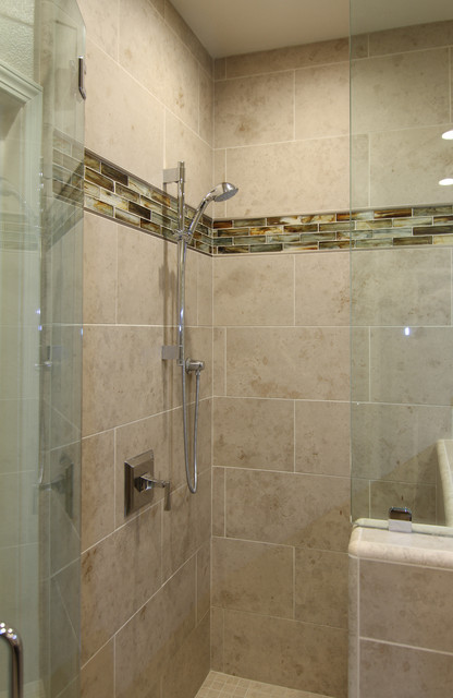 Large Tile Shower In Master Bath Morgan Hill Ca