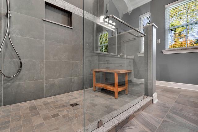 large walk in shower bathroom remodel traditional bathroom new orleans by spencer 39 s. Black Bedroom Furniture Sets. Home Design Ideas