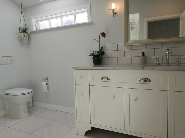 Large white bathroom contemporary-bathroom