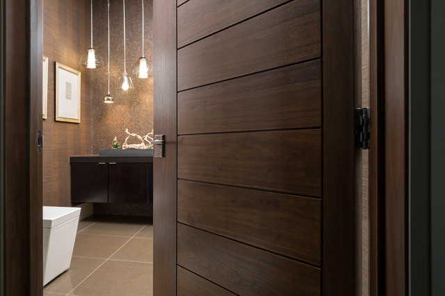 Las Vegas Modern Home   Interior Solid Wood Walnut Door modern bathroom. Las Vegas Modern Home   Interior Solid Wood Walnut Door   Modern