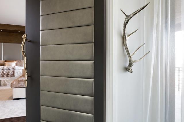 Las Vegas Modern Home Modern Solid Wood Door With