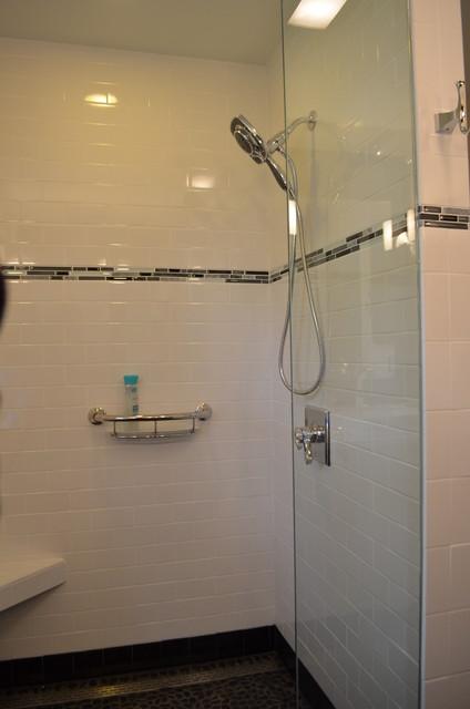 Late 50 39 s ranch remodel contemporary bathroom kansas for Modern ranch bathroom