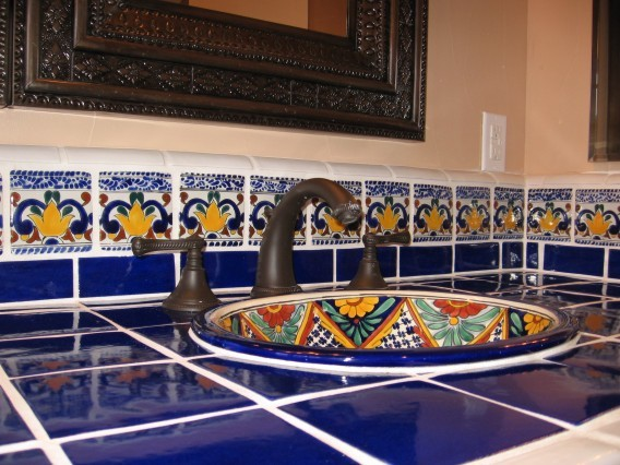 Latin theme bathrooms mediterranean bathroom san for Mexican themed bathroom ideas