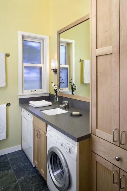 Laundry in bathroom rustic-laundry-room