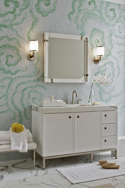 Laura Kirar Vanity contemporary bathroom