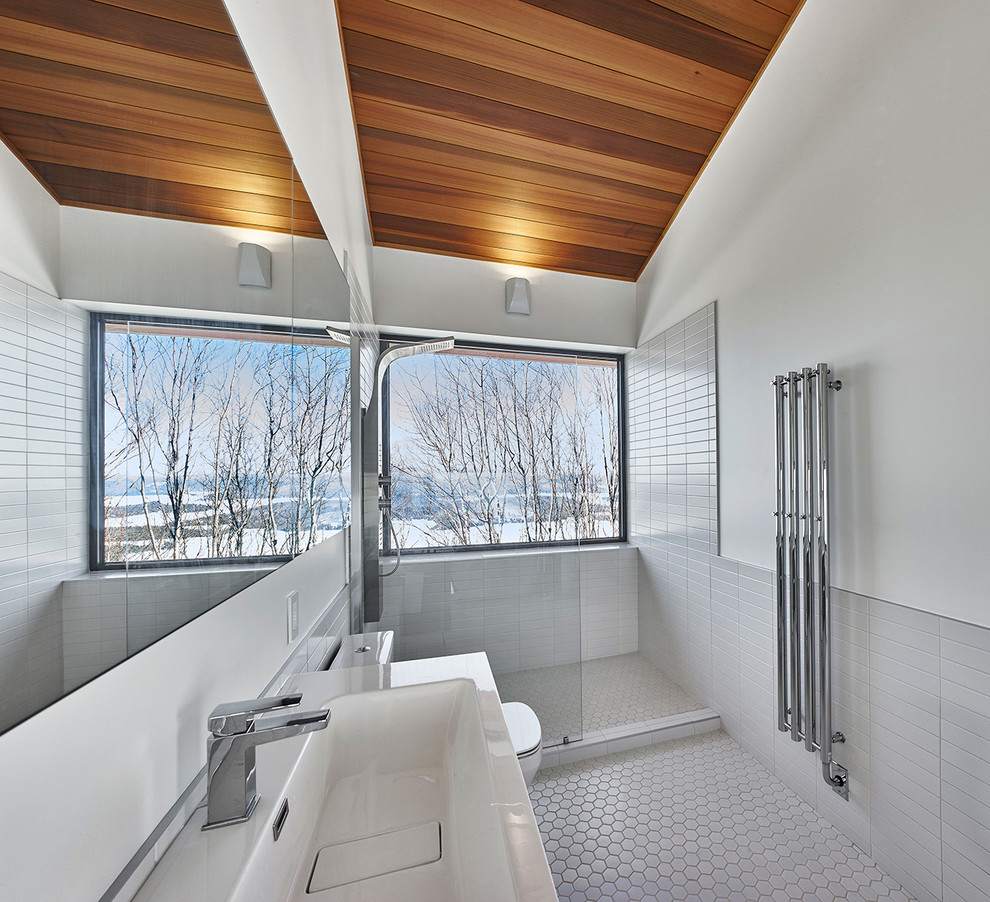 Ski Chalet Interior Design laurentian ski chalet - modern - bathroom - montreal - by