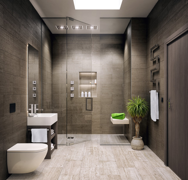 Superior Bathroom Modern Design Part   12: Le Bijou Studio Apartment Modern  Bathroom