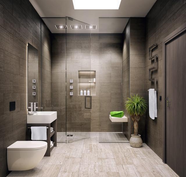 le bijou studio apartment modern bathroom