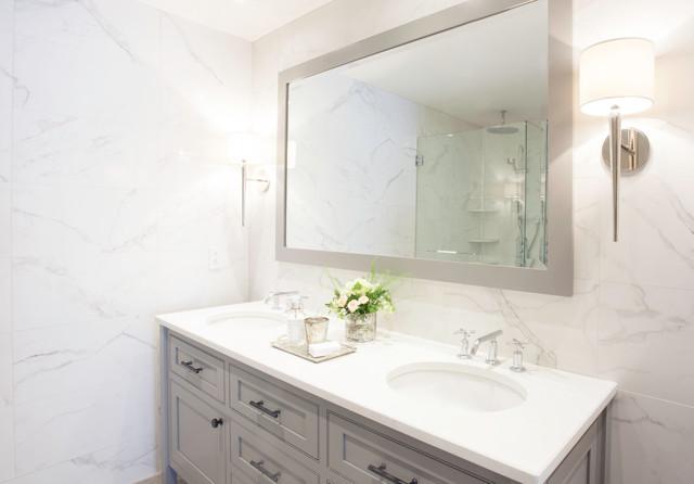 Le luxor condo contemporary bathroom montreal by for Luxor baths