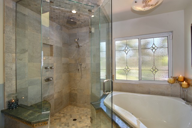 Leahy Interior Design contemporary bathroom