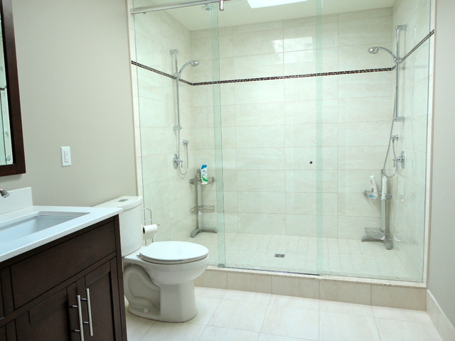 Leaside Double Shower Ensuite Toronto Traditional