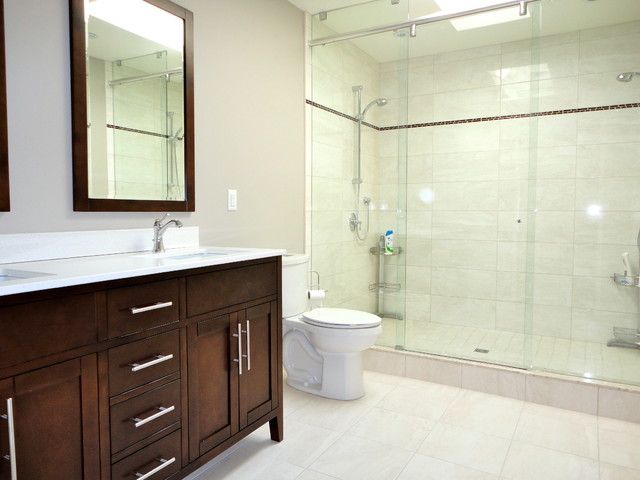 Bathroom Ideas With Double Shower : Leaside double shower ensuite toronto traditional